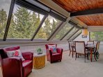 Large windows in the living area provide great views and natural light