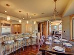 Plenty of seating for family meals