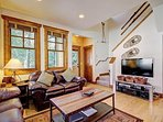 Spacious living room with queen sleeper sofa