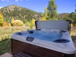 Enjoy the views from the brand new hot tub