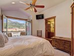 Queen master bedroom with amazing views and ensuite bathroom