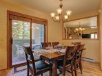 Dining area with access to the patio