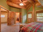 Vaulted ceilings and natural light