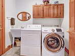 Full-size washer/dryer in the property