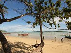 Rawai Beach and islands of the bay of Chalong.