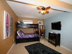 Fourth Sleeping Area with Twin Over Full Bunkbed - Bunkbed also includes trundle bed for additional guest