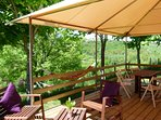 Lodge Pagan 6 pers. 2 ch, 1 sdb, grande terrasse couverte