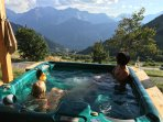 Hot Tub and view (in the summer)