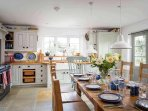 The wonderful sociable kitchen/dining room