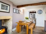 A beautiful room, with a lovely wood burning stove