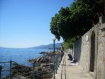 "In Opatija ""Lungomare"" promenade near the sea, which is about 12 km long"