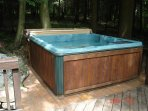 Hot tub on rear private deck