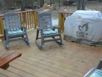 LARGE Grilling DECK with CHARCOAL GRILL