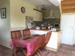 Well equipped open-plan kitchen and dining area