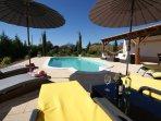 Swimming pool, Lounge set, sunbeds, outside Terace