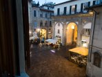 View of the Piazza San Pier Maggiore from the kitchen