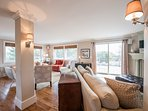 Main Living Room, Multiple seating area with TV Viewing area, open to Kitchen & Dining ARea