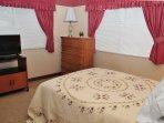 Bedroom #2 -  Double Bed, TV- walk-in-closet