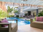 Sala by the pool