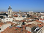 Over the rooftops of beautiful La Rochelle. If you arrive by plane this is what you'll see!
