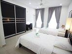 Ocean Bedroom (2x Super Single Size Bed)