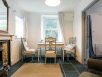 spacious dining area for 2 or 4 guests