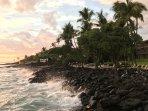 Magical sunset over Kona Isle.