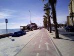 Magnífico tiempo en pleno mes de Enero en nuestro paseo Marítimo.