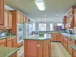 Bring your favorite family recipes to life in the fully equipped kitchen.