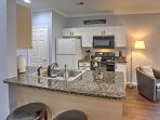 Pull up a seat at the 2-person breakfast bar.
