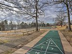 Get outside for some fresh air and play shuffleboard!