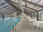 Swim laps in the indoor pool anytime of year.