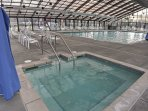 Take a dip in the community pool and hot tub.