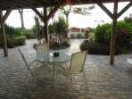 Private patio area outside of rental.  Jut walk out of door onto patio and private walkway to beach