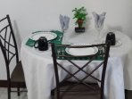 Table set for just two,