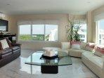 Huge Living Room with Ocean and Lagoon views, Sofa and Sleeper Sofa