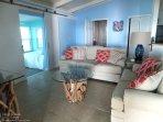 Coastal Living Room, 2nd Bath & 2nd Bedroom Entry