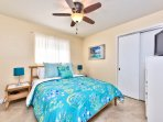 Queen Bedroom with Fan and Flat Screen TV! Beautiful Decor for a Beach Home! Walk in Closet!