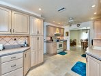 Fully Stocked Kitchen with Nice Appliances! Large Kitchen Perfect for Home Cooked Meals!