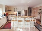 Breakfast bar that seats 4. Fully Equipped kitchen including dishwasher and double ovens - 10 Cove Hill North Chatham...