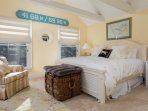 1st floor Bedroom #1 with King bed and full en suite bath - 10 Cove Hill North Chatham Cape Cod - New England Vacation...