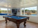 Lower level game room with pool table, darts, and TV. Great views! - 10 Cove Hill North Chatham Cape Cod - New England...