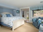 Lower level Bedroom #4 with Queen bed and access to Jack-and-Jill Bathroom. Hot tub just outside the door! - 10 Cove...