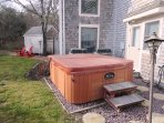 Hot tub just out the doors from the lower level - 10 Cove Hill North Chatham Cape Cod - New England Vacation Rentals