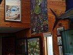 Original artwork in Art Gallery home.
