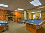Play a round of pool in the game room by the roar of a warm fire. This room also features additional sleeping for 2...