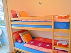 Bunk bed in the second bedroom.