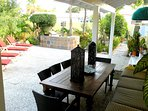 Amazing outdoor dining and BBQ area