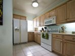 Kitchen, spacious and well equipped.