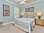 Queen Bedroom Featuring Fan, New Decor and Painting!